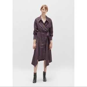Isabel Marant Mila Striped Cotton Wrap Dress FR36